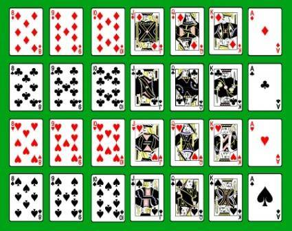 free vector Vector Playing Card Deck