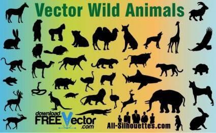 free vector Vector Wild Animals