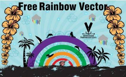 free vector Free Rainbow Vector