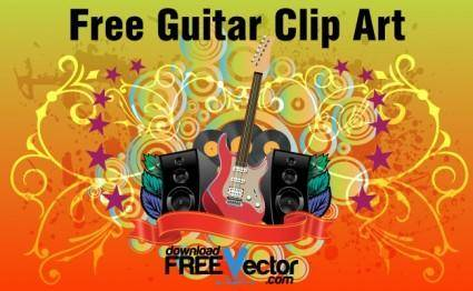 free vector Free Guitar Clip Art