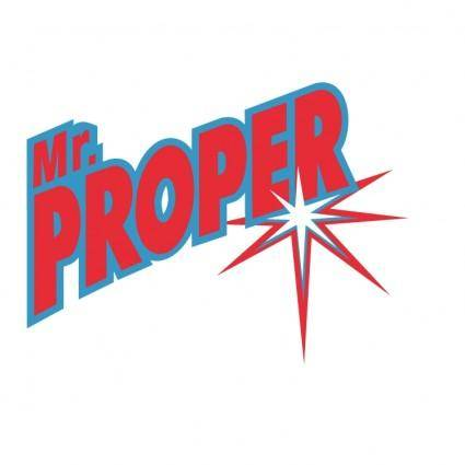 free vector Mr proper