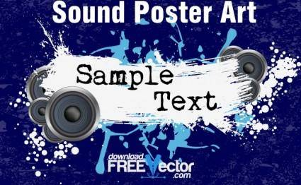 free vector Sound Poster Art
