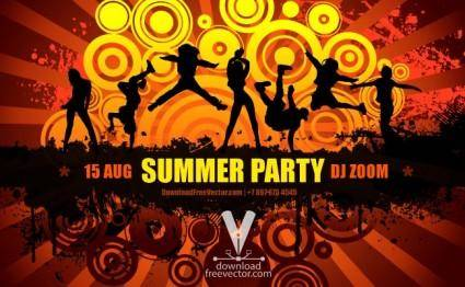free vector Summer Party Flyer