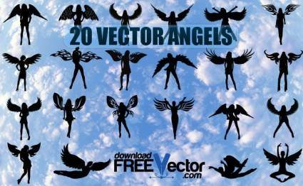 free vector Vector Angels
