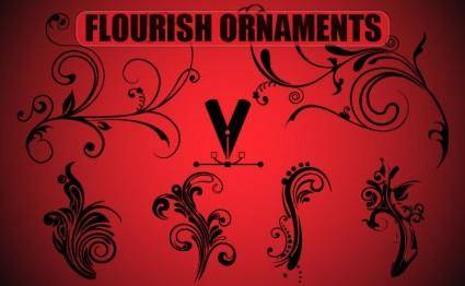 free vector Free Flourish Ornaments