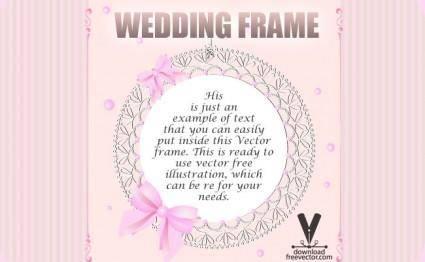 free vector Wedding Frame