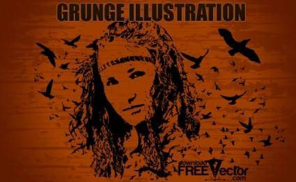 free vector Grunge Illustration