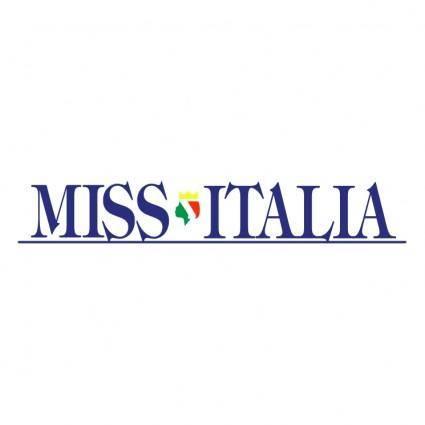 free vector Miss italia