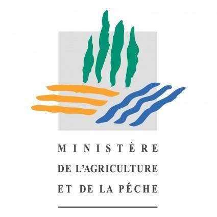 free vector Ministere de lagriculture et de la peche