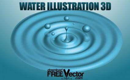 free vector Water Illustration 3D