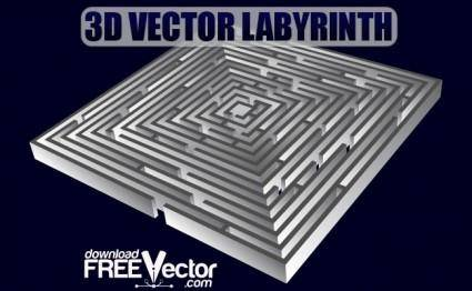 free vector 3D Vector Labyrinth