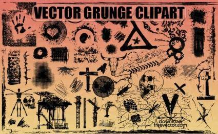 free vector Free Vector Grunge Clipart