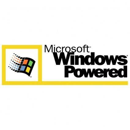 free vector Microsoft windows powered
