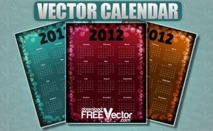 free vector Vector Calendar For 2012