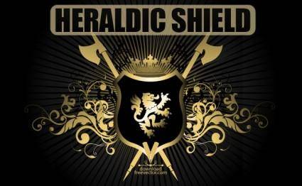 free vector Vector Heraldic Shield