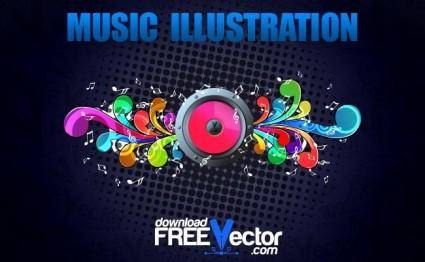 free vector Vector Music Illustration