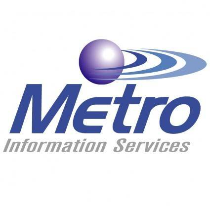 free vector Metro information services