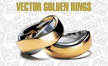 free vector Vector Golden Rings