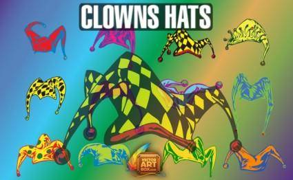 free vector Vector Clowns Hats