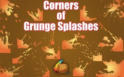 free vector Grunge Splashes Corners