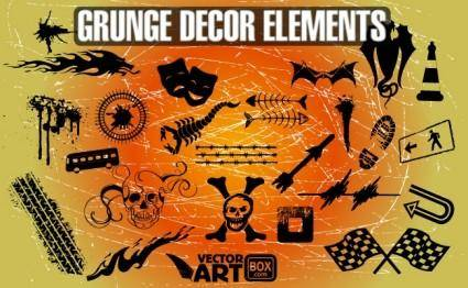 free vector Grunge Decor Elements