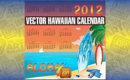 free vector Vector Hawaiian Calendar