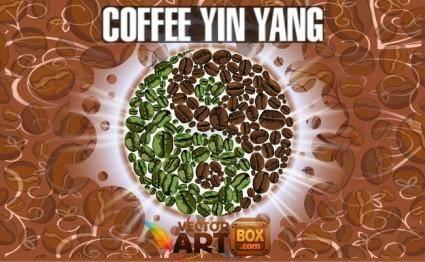 free vector Coffee Yin Yang