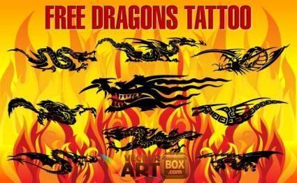free vector Free Dragons Tattoo