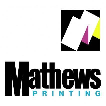 free vector Mathews printing