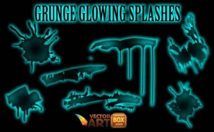 Grunge Glowing Splashes