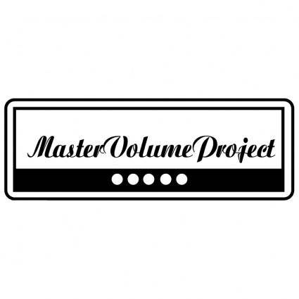 free vector Master volume project