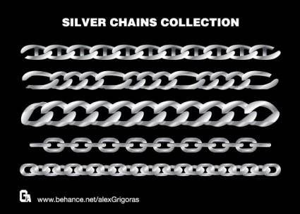 free vector Silver Chains Collection