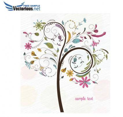 free vector Free Tree Vector Illustration