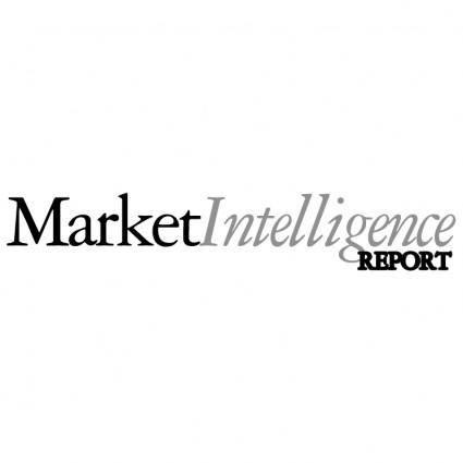 free vector Marketintelligence report