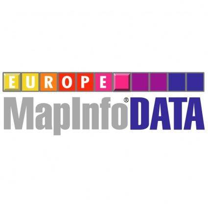 Mapinfo data europe