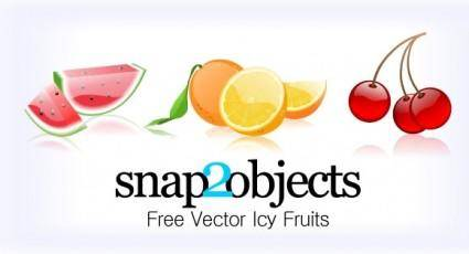 free vector 3 Free Vector Icy Fruits