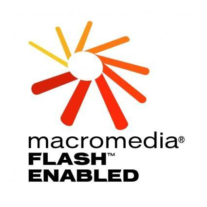 free vector Macromedia flash enabled 1