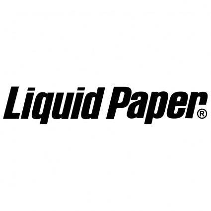 Liquid paper
