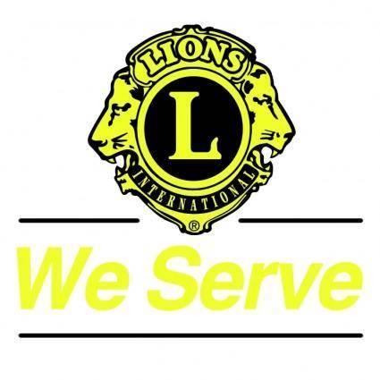 free vector Lions international 1