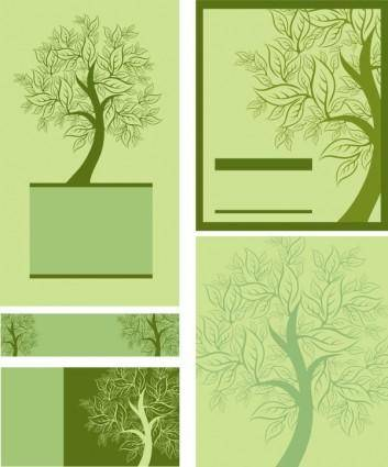 free vector Tree template 01 vector