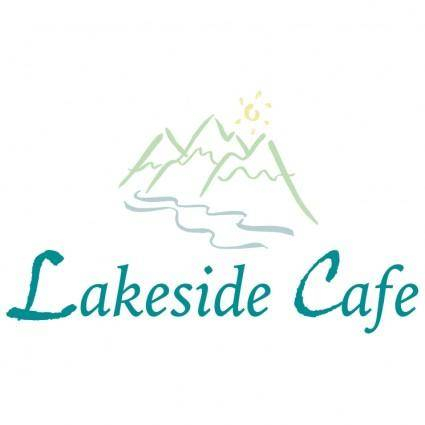 free vector Lakeside cafe