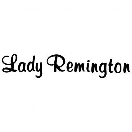 free vector Lady remington
