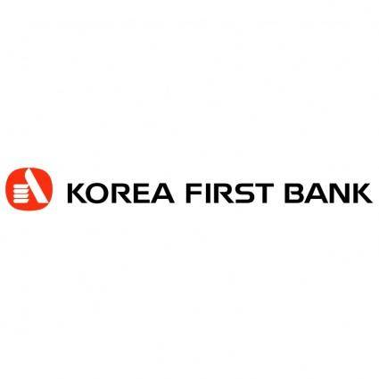 free vector Korea first bank