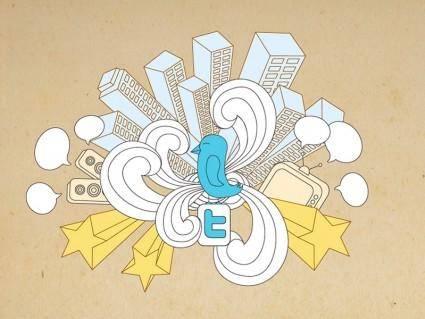 free vector Twitter World