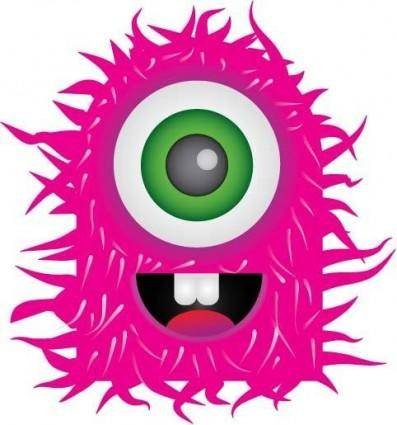 Pink Monster Vector