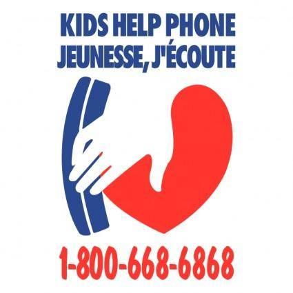 free vector Kids help phone