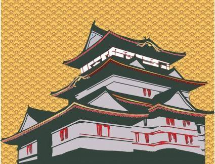 free vector Japanese House Vector
