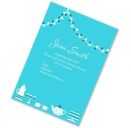 free vector Bridal Shower Invitation Vector