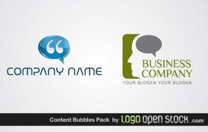 free vector Content Bubbles Pack