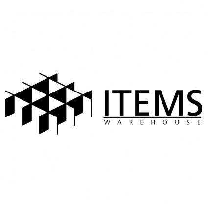 Items warehouse